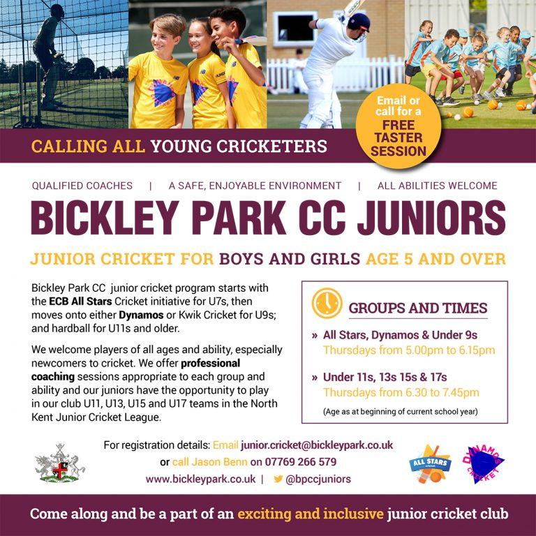 BPCC Junior Cricket Flyer 2021